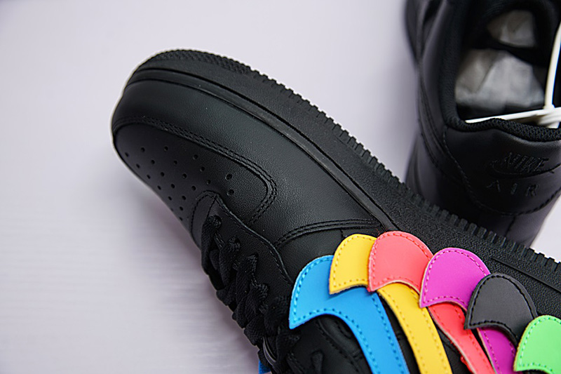 NIKE AIR FORCE 1 07 QS SWOOSH PACK 魔术贴黑彩勾 图片3