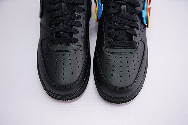 NIKE AIR FORCE 1 07 QS SWOOSH PACK 魔术贴黑彩勾 图片2
