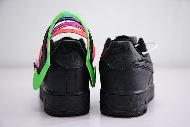 NIKE AIR FORCE 1 07 QS SWOOSH PACK 魔术贴黑彩勾 图片5