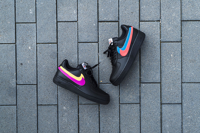 NIKE AIR FORCE 1 07 QS SWOOSH PACK 魔术贴黑彩勾 图片8
