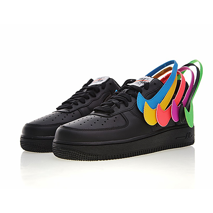 "NIKE AIR FORCE 1 07 QS SWOOSH PACK 魔术贴""黑彩勾"""