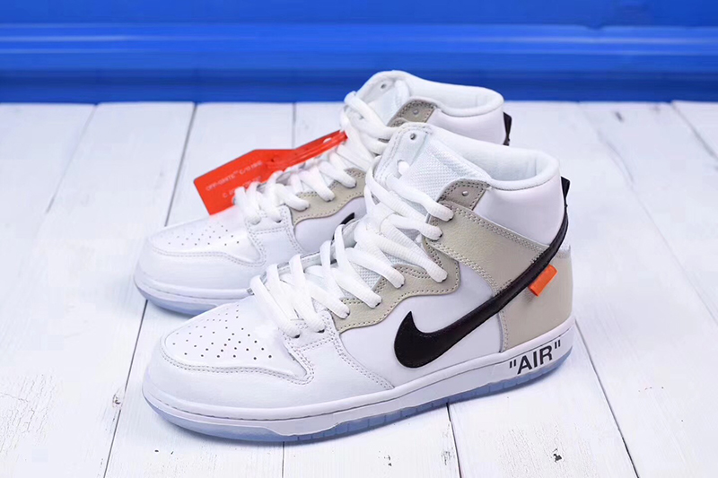 Off-White x nike sb dunk high pro「 REVEALING」OW白米黑橘标 图片1