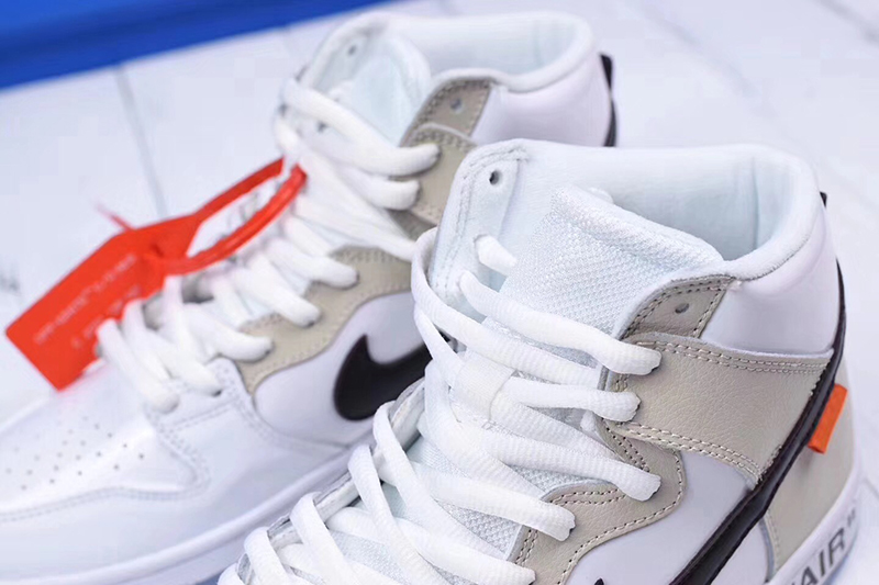 Off-White x nike sb dunk high pro「 REVEALING」OW白米黑橘标 图片4