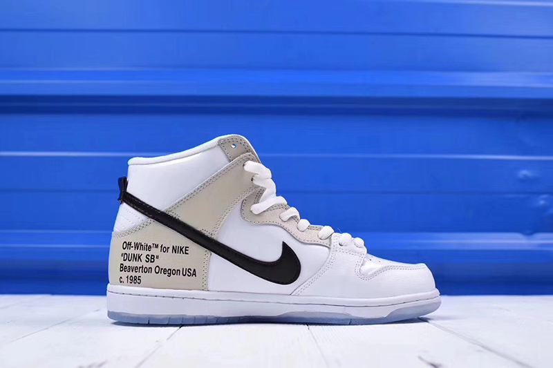 Off-White x nike sb dunk high pro「 REVEALING」OW白米黑橘标 图片6