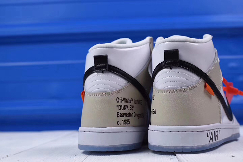 Off-White x nike sb dunk high pro「 REVEALING」OW白米黑橘标 图片7