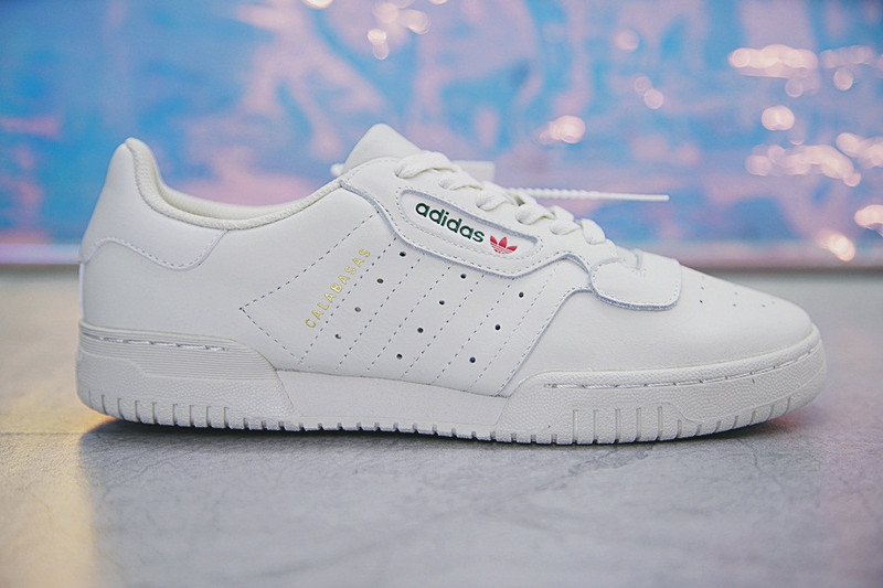 Adidas Yeezy x Adidas Originals Powerphase 卡拉巴萨斯经典板鞋 米白绿