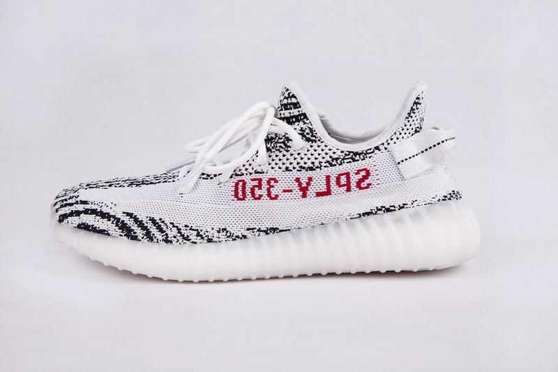 Adidas Yeezy Boost 350 V2 椰子鞋白斑马 图片12