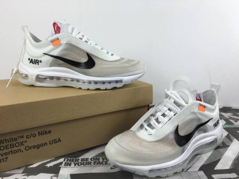 NIKE UNC Off-White  Air Max97 the Ten 白色