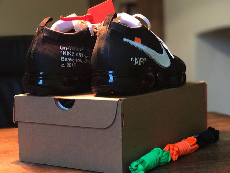 耐克  OFF WHITE x NIKE AIR VAPOR MAX OW 黑白橘