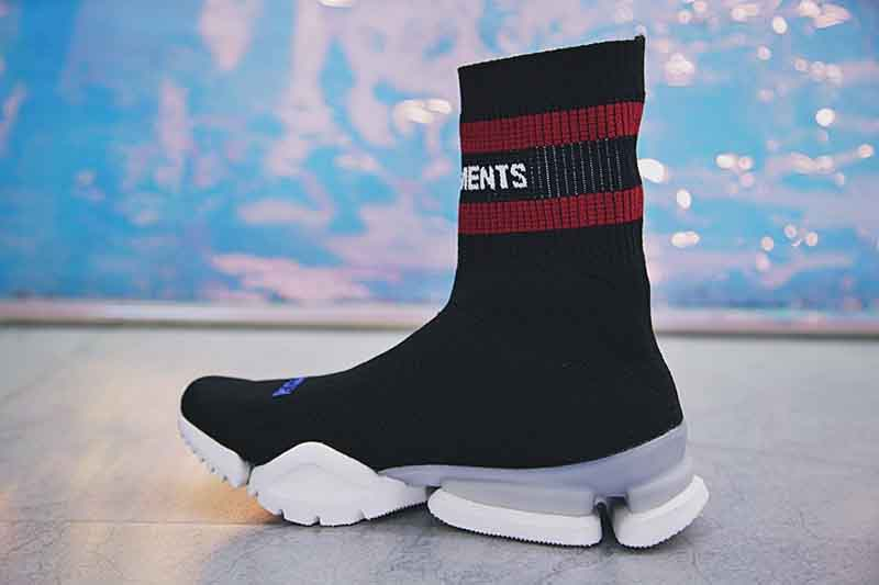 Vetements x Reebok crew Sock Runner 高街中帮针