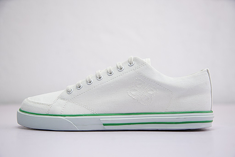 "Balenciaga Ligne Match low-top canvas低帮百搭复古帆布板鞋""白绿"""