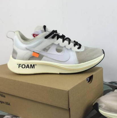 NIKE Off-White nike Zoom Fly SP 联名鞋 乳白色